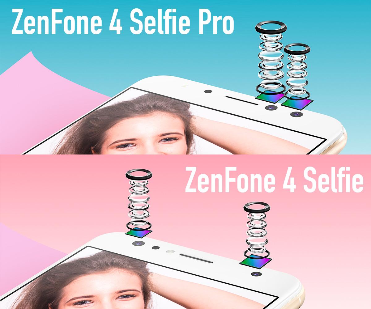 ASUS ZenFone 4 Selfie、Selfie Pro 前面のデュアルカメラ