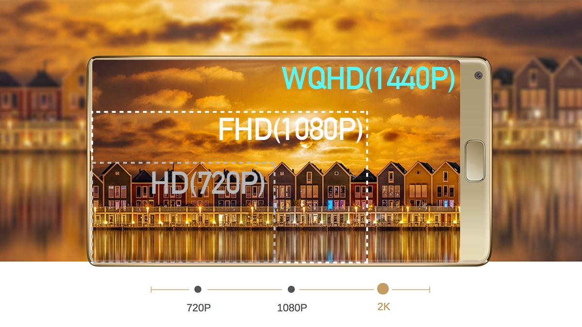 Elephone S8 WQHDディスプレイ