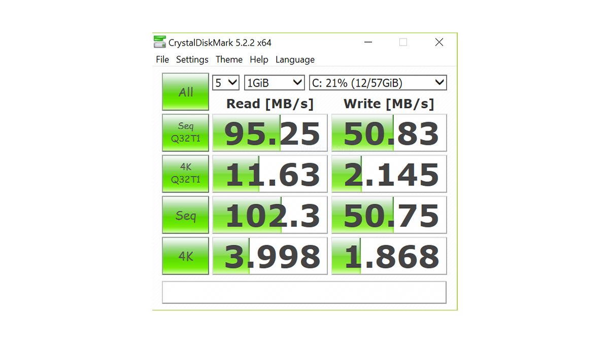 Jumper EzBook 3 Pro CrystalDiskMark
