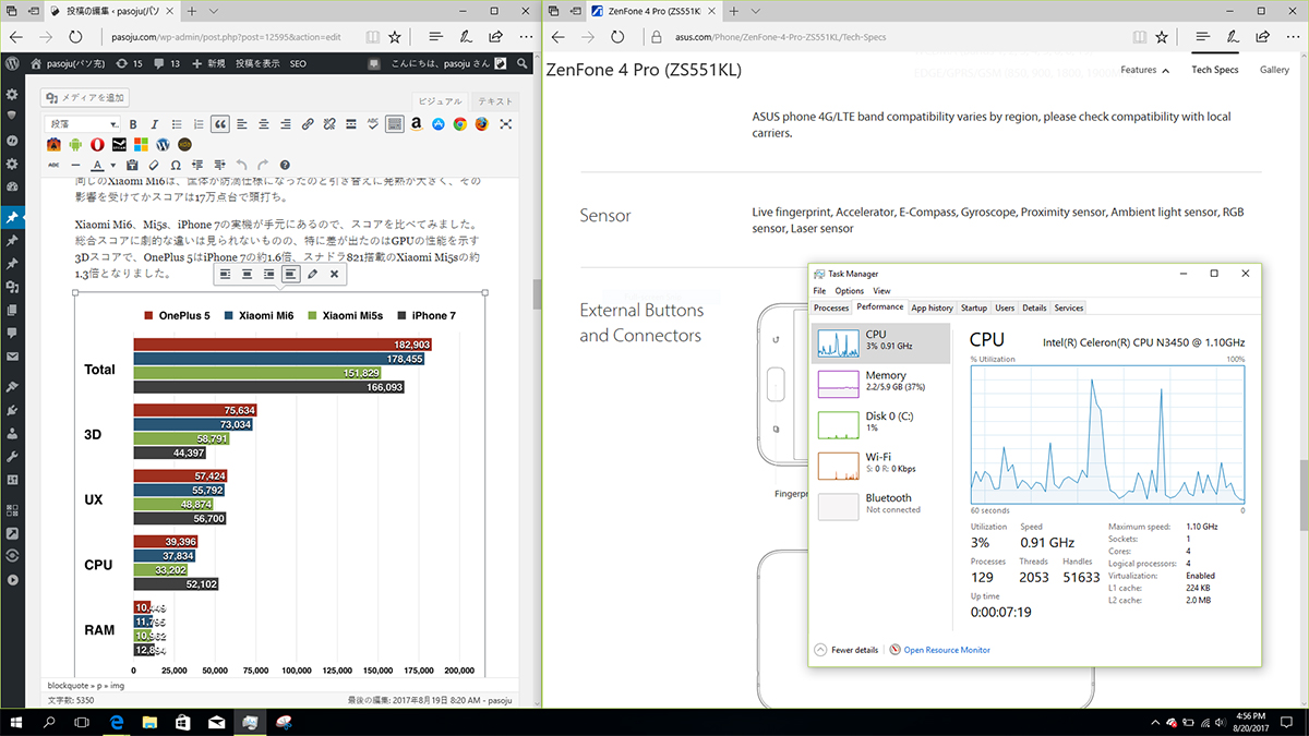 Jumper EzBook 3 Pro ブログ更新