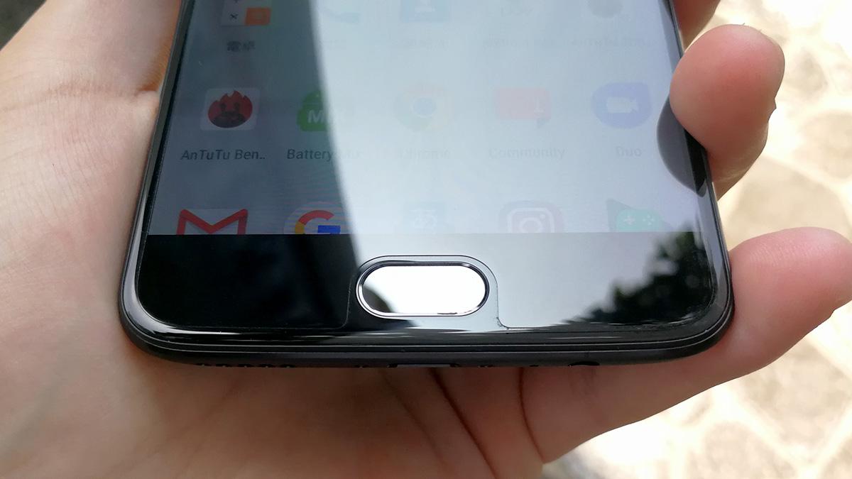 OnePlus 5 デザイン ホームボタン周り