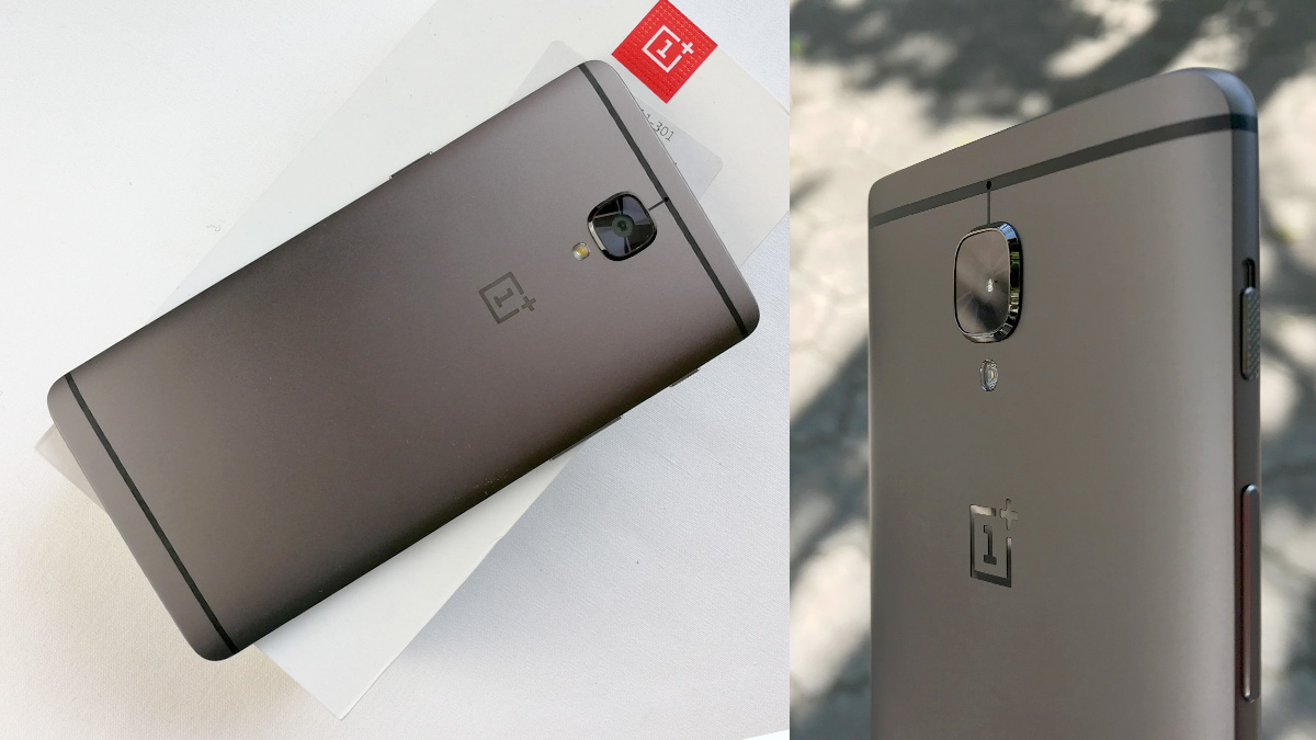 OnePlus 3Tの背面の様子