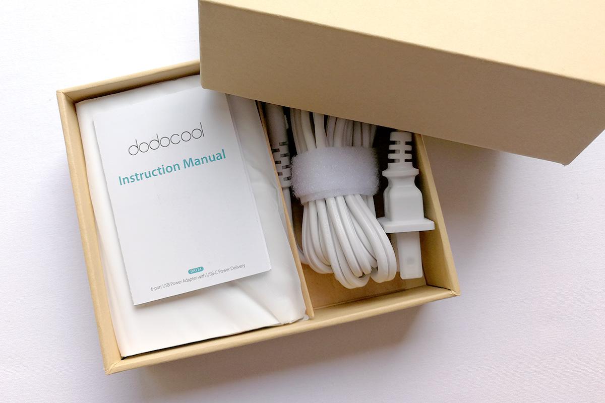 dodocool 60W 6ポートUSB充電器 パッケージ