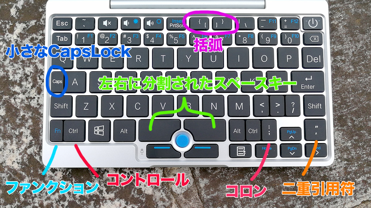 GPD Pocket キー配置