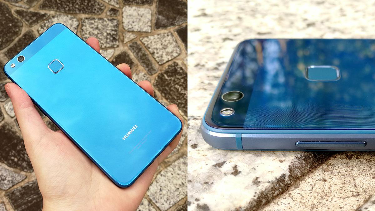 Huawei P10 lite サファイアブルーモデルのガラスボディ