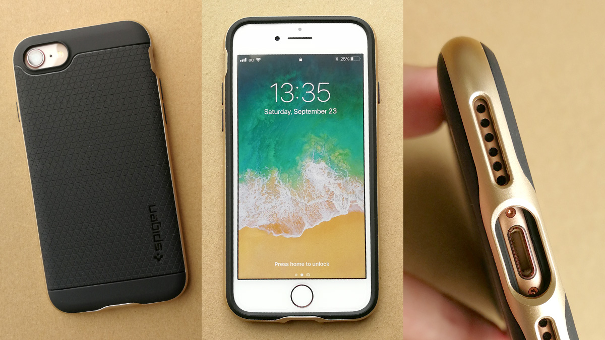 Spigen iPhone 8用 ネオ・ハイブリッドケース