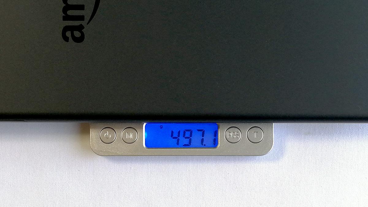 Fire HD 10 2017年モデル 重量