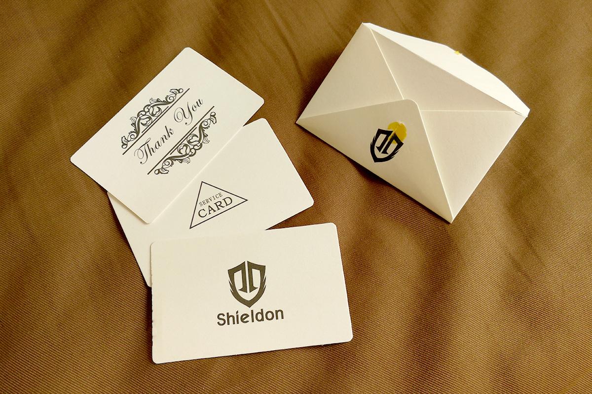 SHIELDON 本革製iPhone 8用手帳ケース メッセージカード