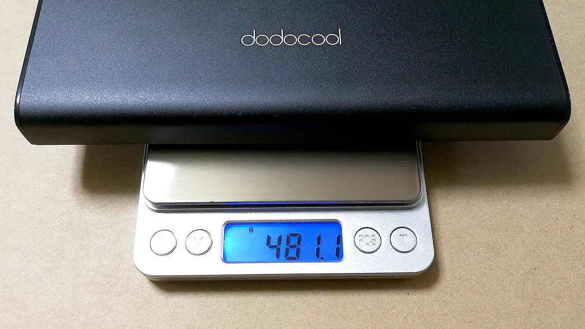 dodocool DP13 20100mAhモバイルバッテリー 重量