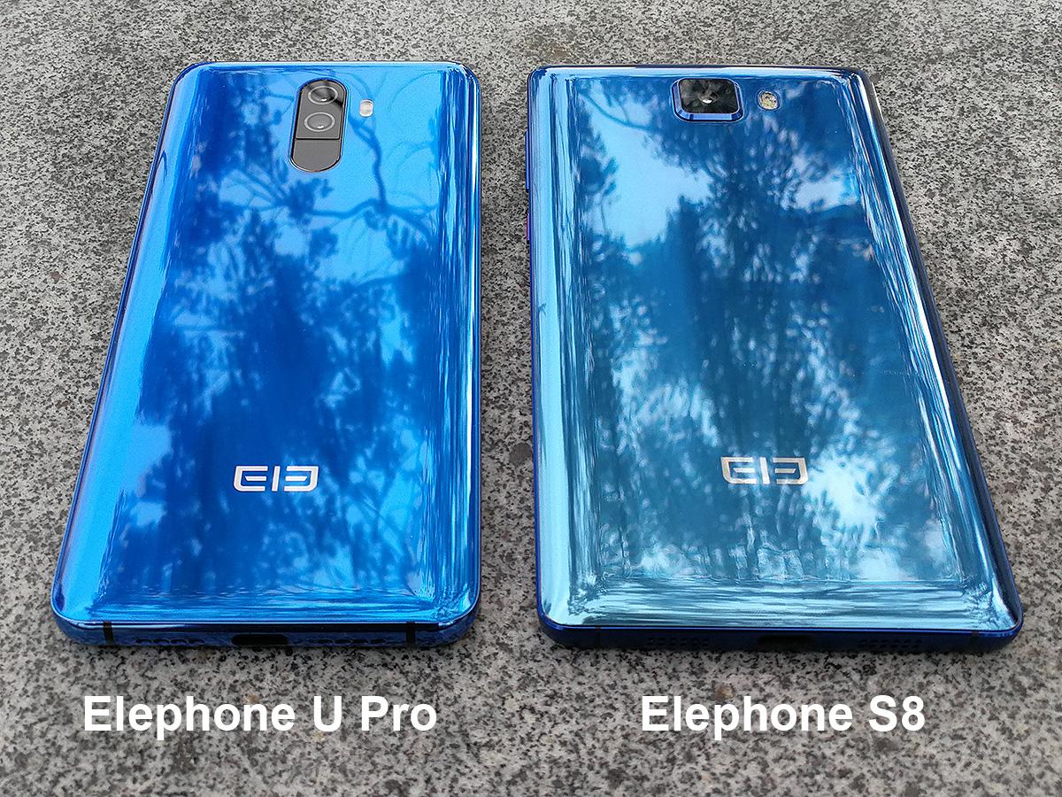 Elephone U ProとS8の背面