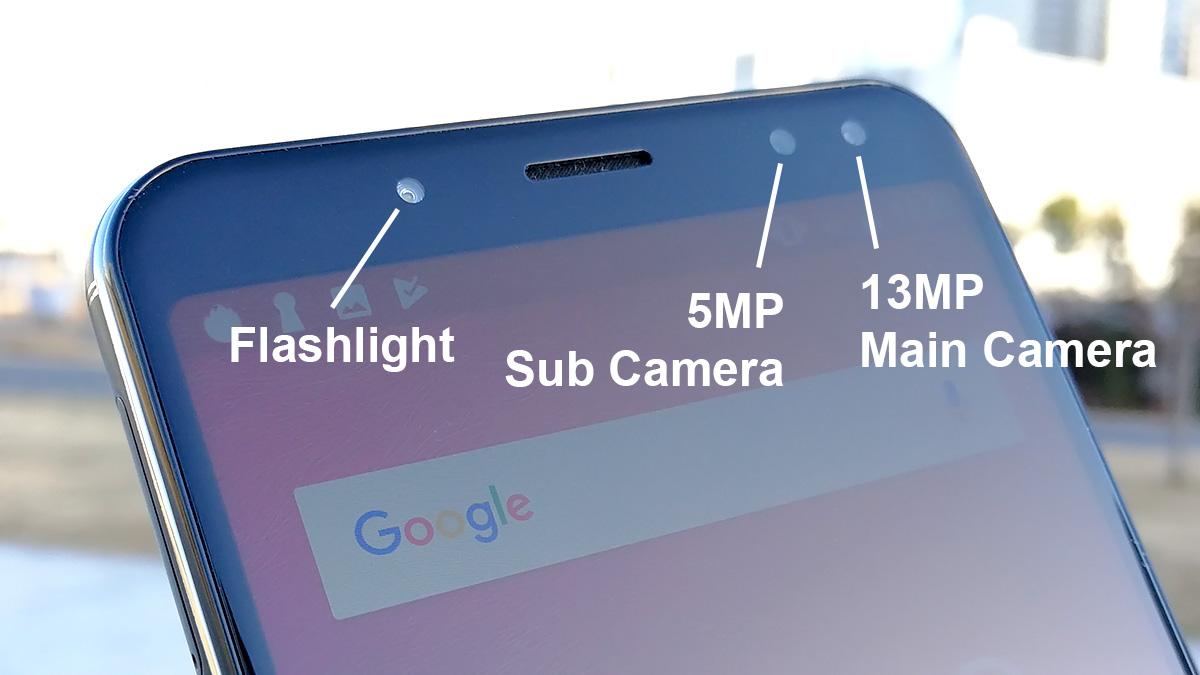 Ulefone Power 3 前面カメラとフラッシュライト