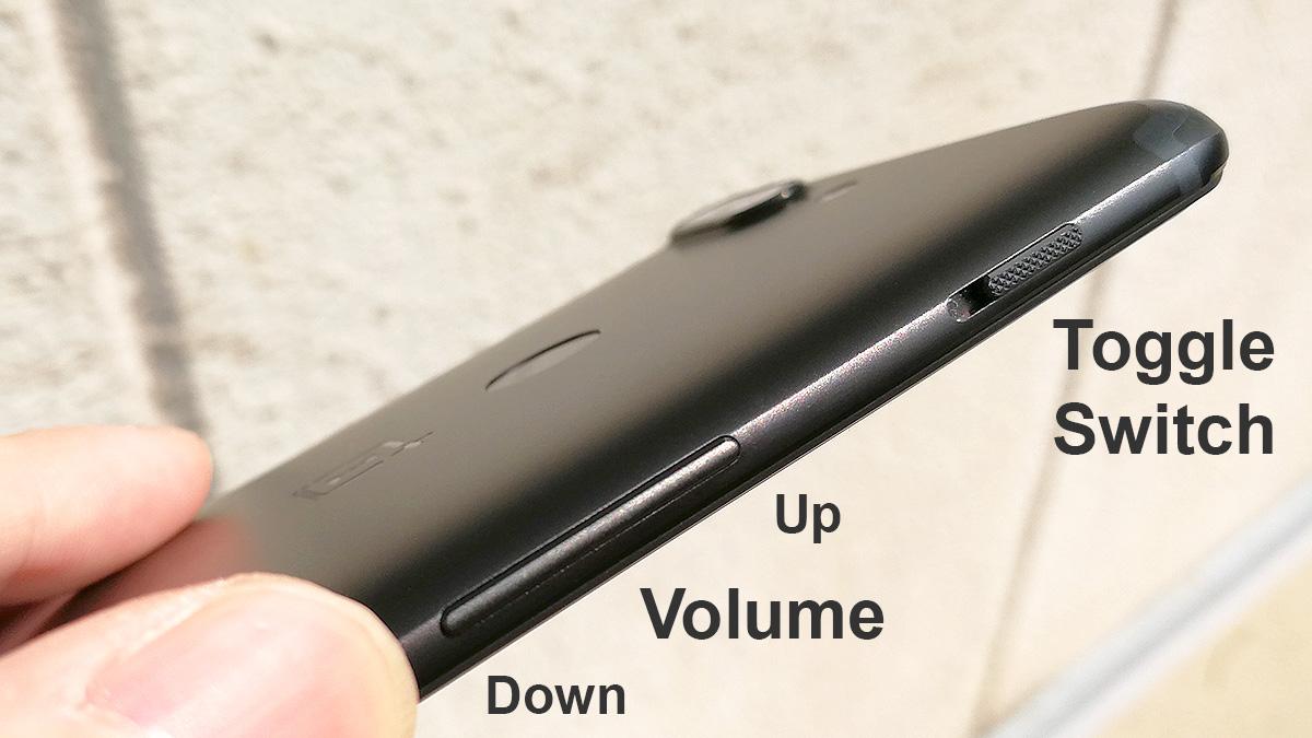 OnePlus 5T 物理ボタン
