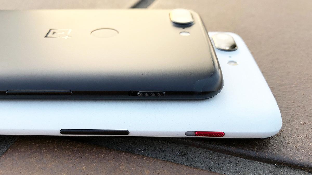 OnePlus 5T サンドストーン・ホワイトとミッドナイト・ブラック