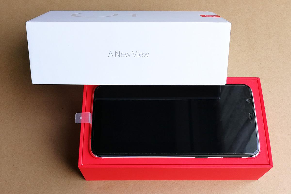 OnePlus 5T サンドストーン・ホワイト 開封