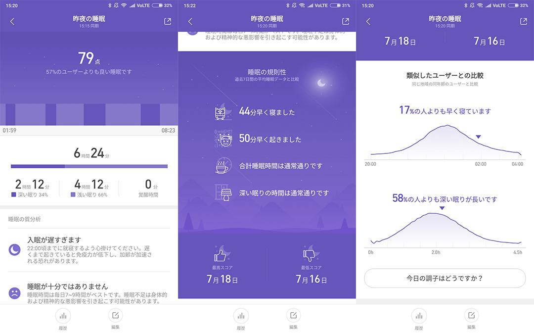 Xiaomi Mi Band 3で睡眠時間を計測