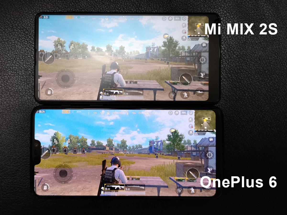 Xiaomi Mi MIX 2SとOnePlus 6 PUBG Mobile