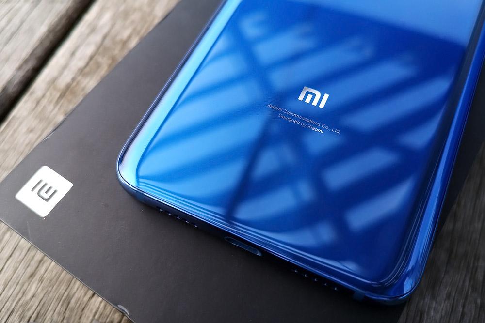 Xiaomi Mi8 背面ロゴ周り