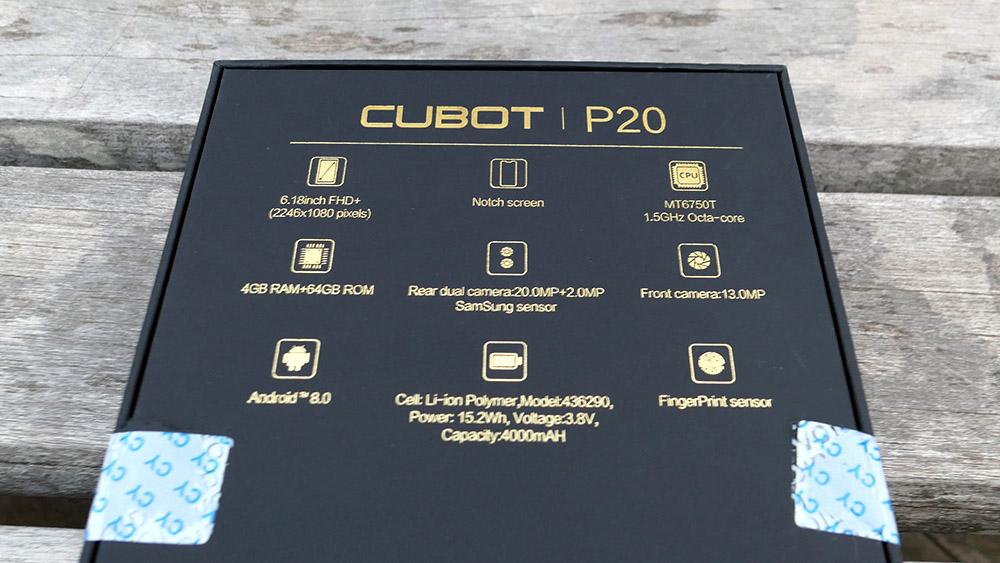 CUBOT P20 パッケージ