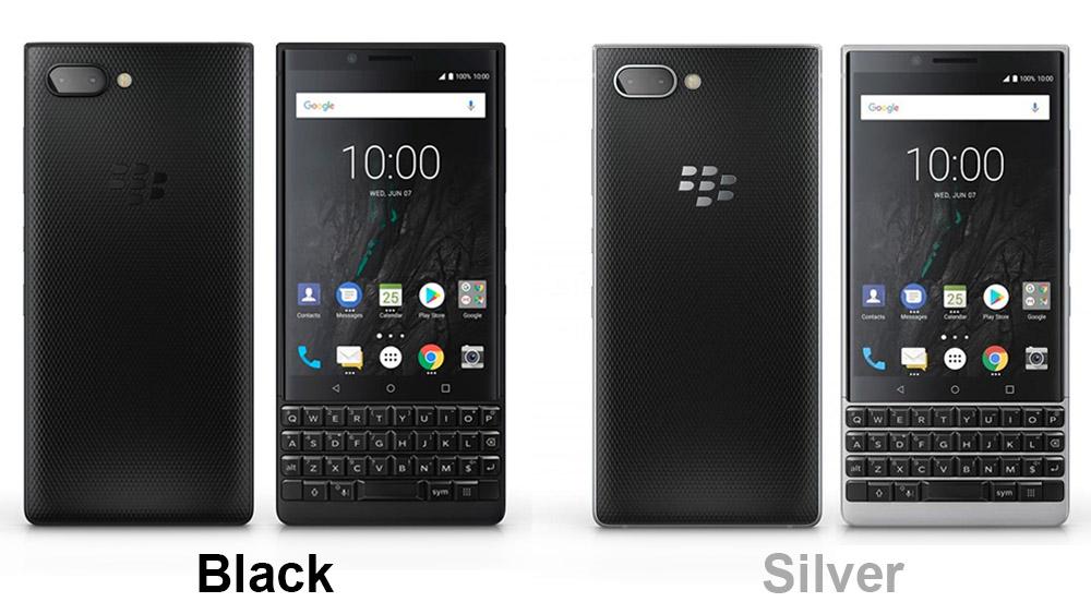 BlackBerry KEY2 ブラックモデルとシルバーモデルの違い