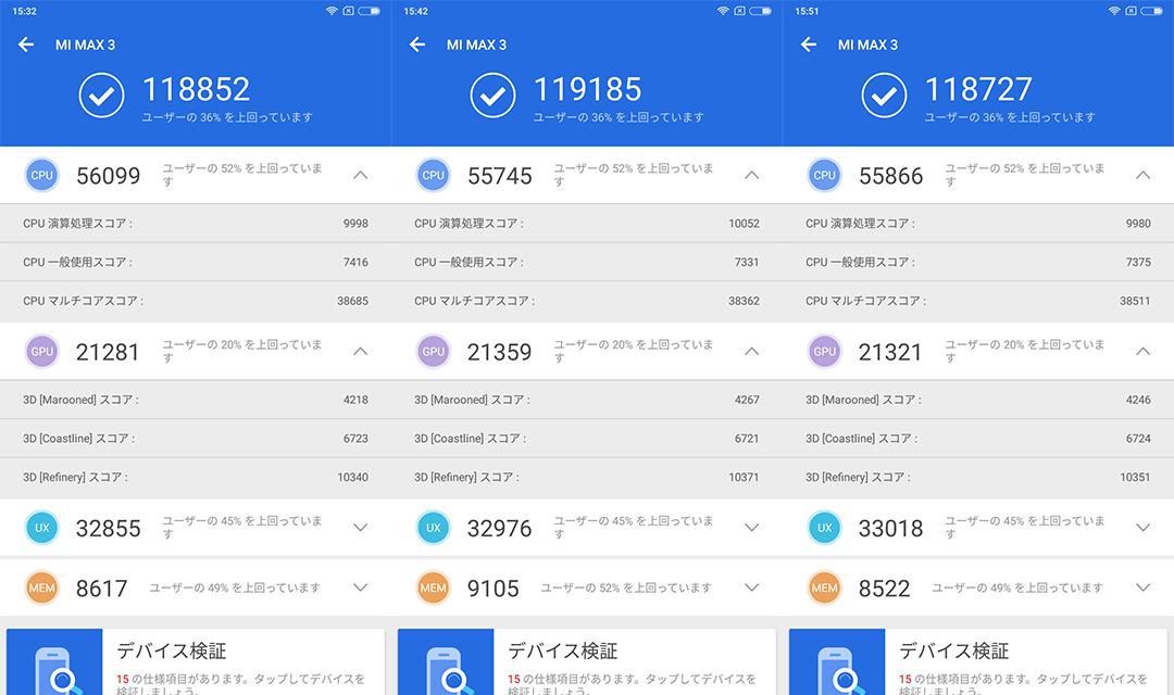 Xiaomi Mi Max 3 Antutu Benchmark v7