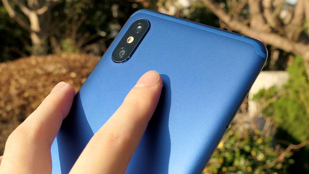 Xiaomi Mi Max 3 背面指紋認証センサー