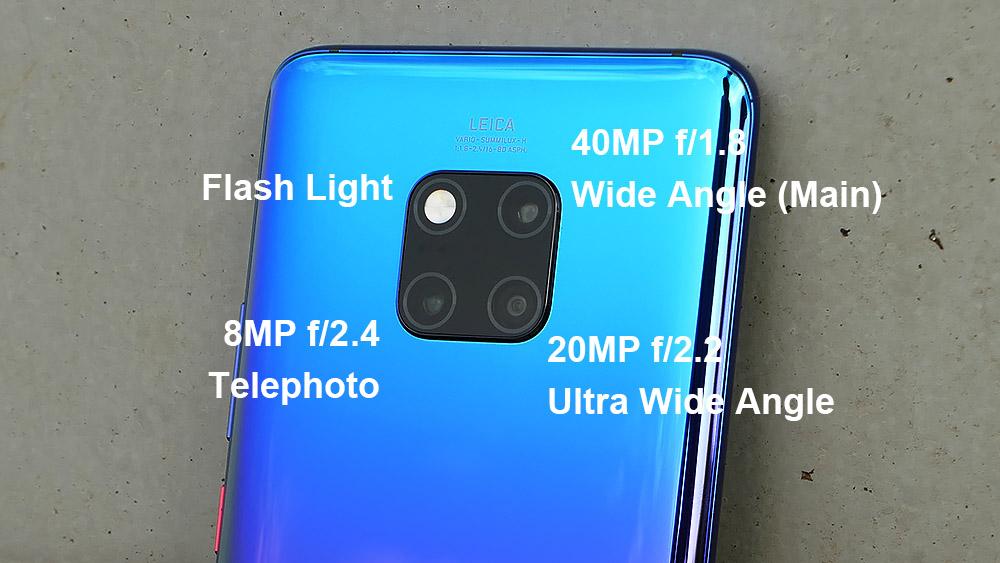 Huawei Mate 20 Pro トリプルカメラ