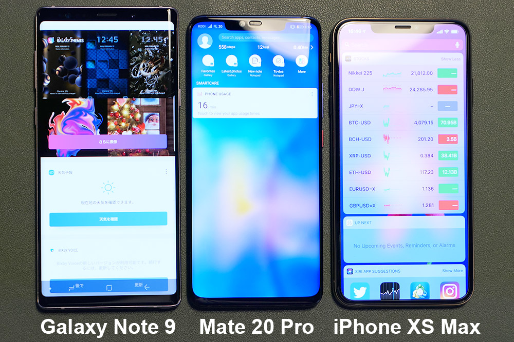 Huawei Mate 20 Pro 大きさ比較